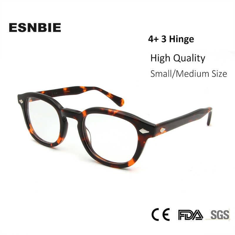 3ea51e7e5fd ... ESNBIE High Quality Acetate Johnny Depp Style Glasses Men Retro Vintage  Prescription Glasses Women Optical Spectacle ...