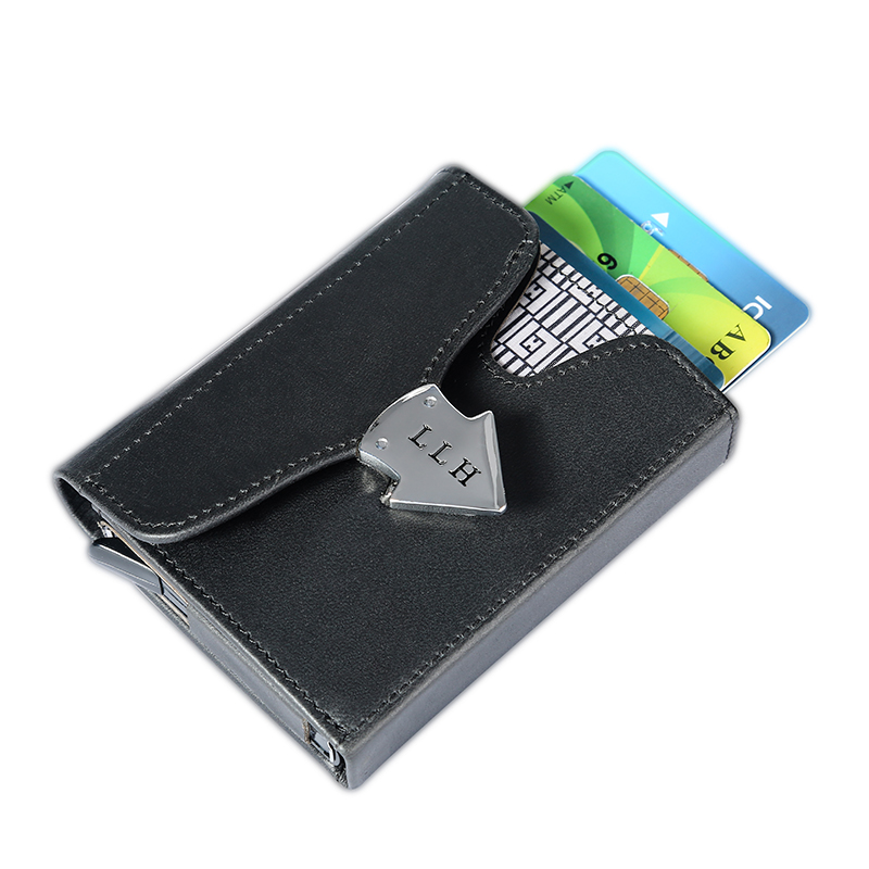 Men Rfid Blocking Card Holder Business genuine Leather ID Cash Credit Protector Purse Automatic 18 Cards Pop Up Card Case WalleMen Rfid Blocking Card Holder Business genuine Leather ID Cash Credit Protector Purse Automatic 18 Cards Pop Up Card Case Walle