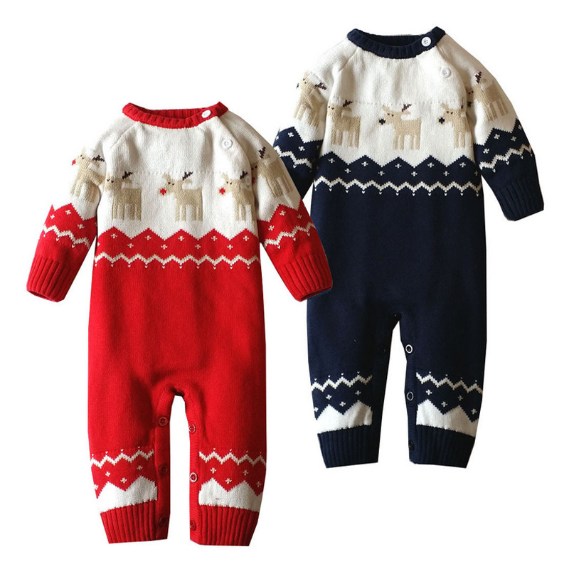 Baby Clothes Baby Boy Romper Winter Overalls for Newborn Baby Girl Rompers Costume Baby Clothing Christmas Deer Sweater Snowsuit newborn baby boy rompers autumn winter rabbit long sleeve boy clothes jumpsuits baby girl romper toddler overalls clothing
