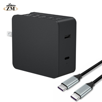 45W PD Wall Charger Laptop Adapter Power With Power Delivery Dual 2.4A USB Charger for iPhone X 8 With PD Charging Cable