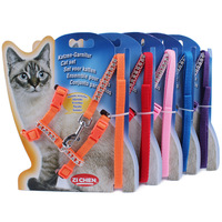 Cat Harness And Leash Hot Sale Nylon Products For Animals Adjustable Pet Traction Harness Belt Cat