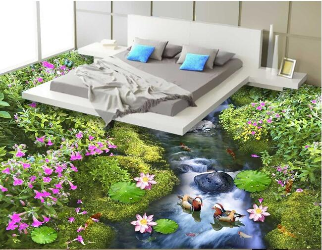 3 d pvc flooring custom wall paper  Flowers and flowers ground 3d bathroom flooring picture of the world mural  wallpaper horton prostaglandins and the kidney paper only