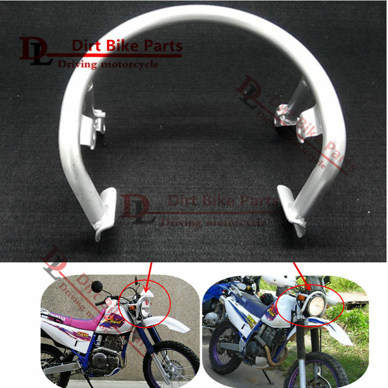 TTR250 TT-R250 Front Headlight Guard Head Light Lamp Protector Bracket Shelf for Yamaha TTR TT-R 250 Motocross Pit Dirt Bike huayang kayo 2016 t2 t4 general off road motorcycle headlight dirt pit bike head lamp light page 9