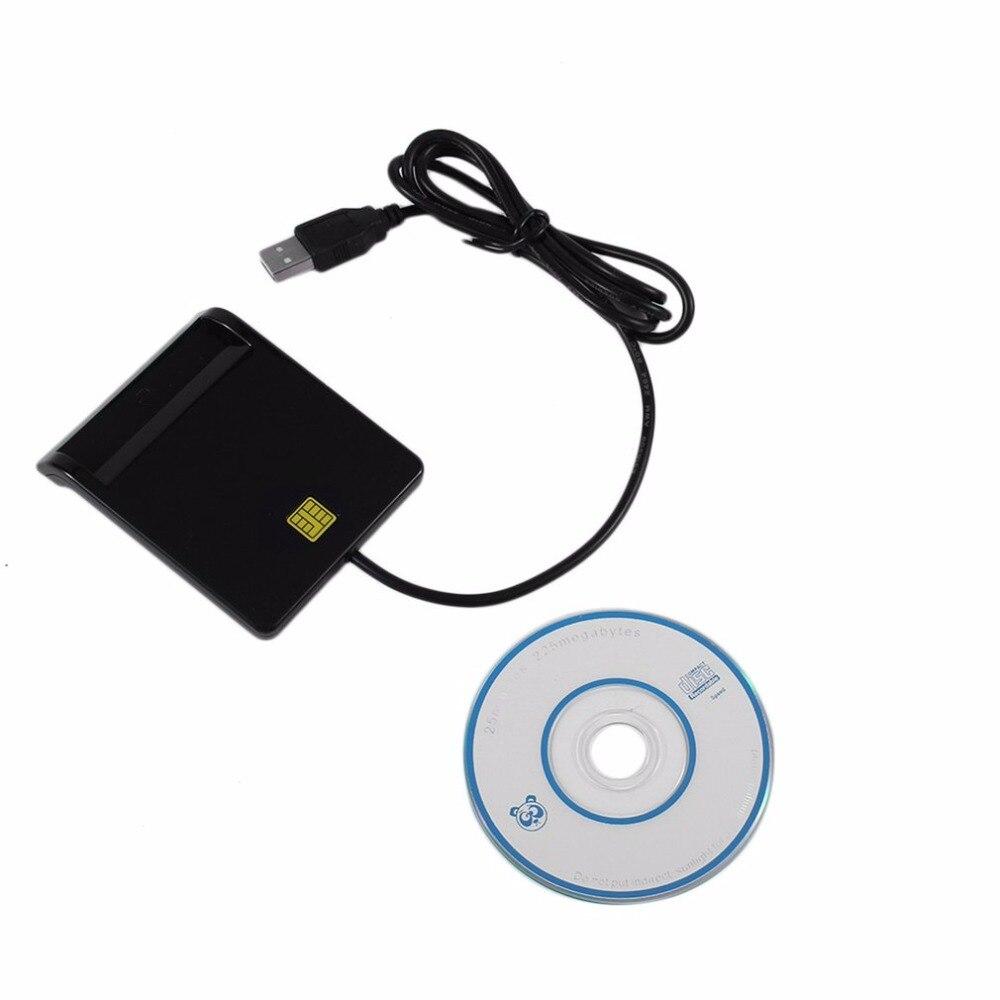 USB 2.0 Smart Chip Card Reader Flash Multi Memory Card Reader IC / ID Card Reader Plug And Play For PC Card Reader Adapter