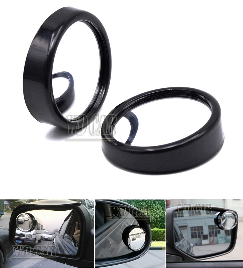 1 Pair Side 360 Wide Angle Round Car Vehicle Blind Spot Dead Zone Rear View Mirrors