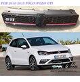 POLO GTI ABS ESTILO Frente centro Grelha favo de mel grade dianteira para VW Polo 2010-2015