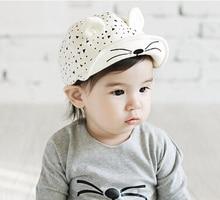 Lovely Baby Sunhat children Cat Cartoon Cap spring autumn baseball hat for boys and girls