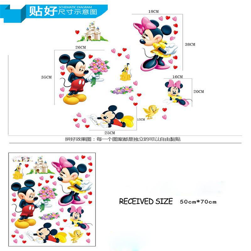 HTB1wIaFKpXXXXX5XVXXq6xXFXXXD - Cartoon Mickey Minnie Mouse wall sticker for kids room