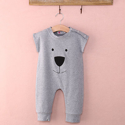 2016 cotton infant Cute Newborn Baby Girl Boy Bear Fleece Rompers Playsuit Jumpers Outfits summer spring fall toddler toddler baby cactus romper infant girl boy cute cotton clothes rompers jumpsuit playsuit outfits