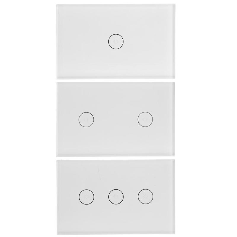 Фото 1/2/3Gang Smart WiFi Light Wall Touch Switch Panel Home Remote Control Alexa Wall Touch Switch Panel,AC 110-240V 50/60Hz