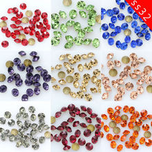 72p ss32 7mm color Point Back czech Crystal Rhinestones faceted Glass  chatons jewels dancing dresss Headdress cef6e494dc63