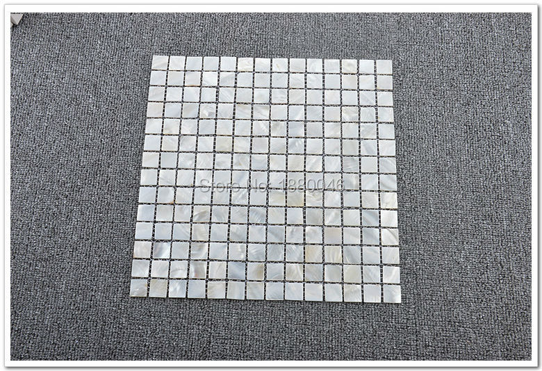 Free shipping shell mosaic tile white shell tile luster mother of pearl tiles backsplash kitchen bathroom mirror tile Decorative