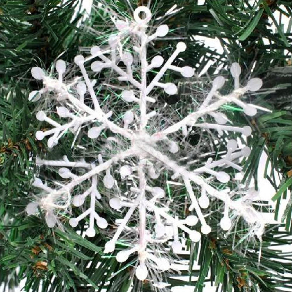 30pcs Xmas Christmas Tree Decorations White Snowflakes