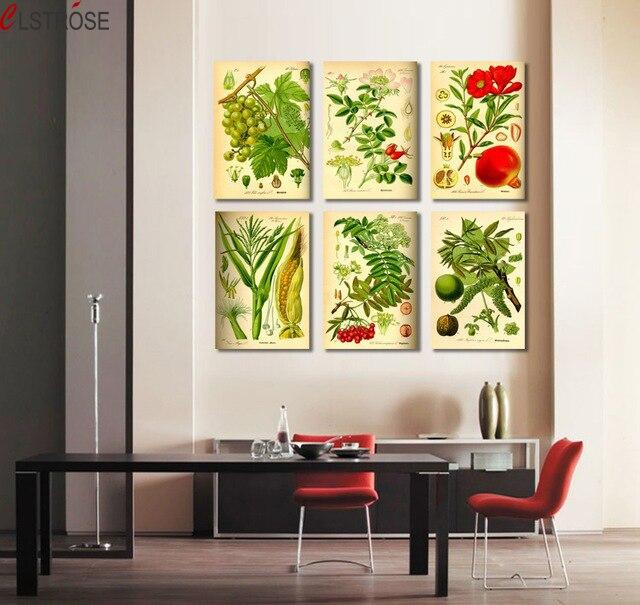 Φ_ΦClstrose 6 unidades combinación lienzo arte moderno Lona de las ...