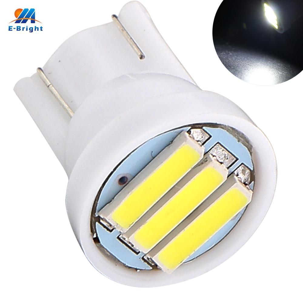 Wholesale 1000PCS lot T10 7014 3SMD 194 927 161 168 W5W 3 Led Auto Instrument Lights