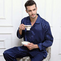 Mens Silk Satin Pajamas Set Sexy Pajama Pyjamas Sleepwear Set Loungewear Homewear Autumn Winter Nightwear