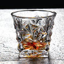 Healthy lead free creative brandy beer glasses whiskey cups crystal glass personality European style home 200-220ML