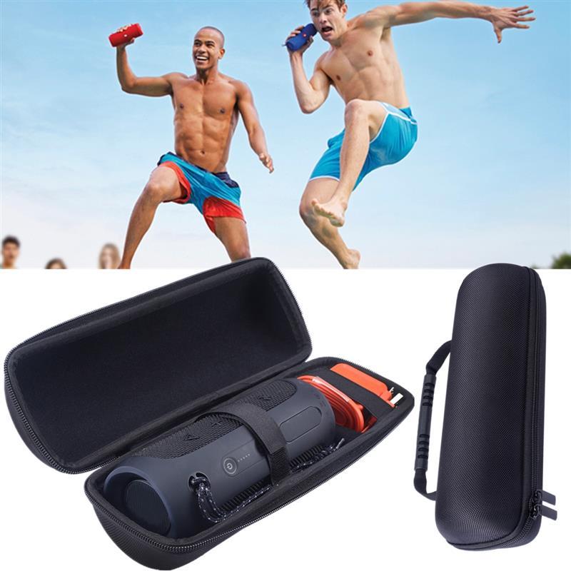 LEORY EVA Hard Speaker Bag Travel Protective Speaker Carry Cover Pouch Bag Case For JBL Flip 4 Bluetooth Speaker For Charger