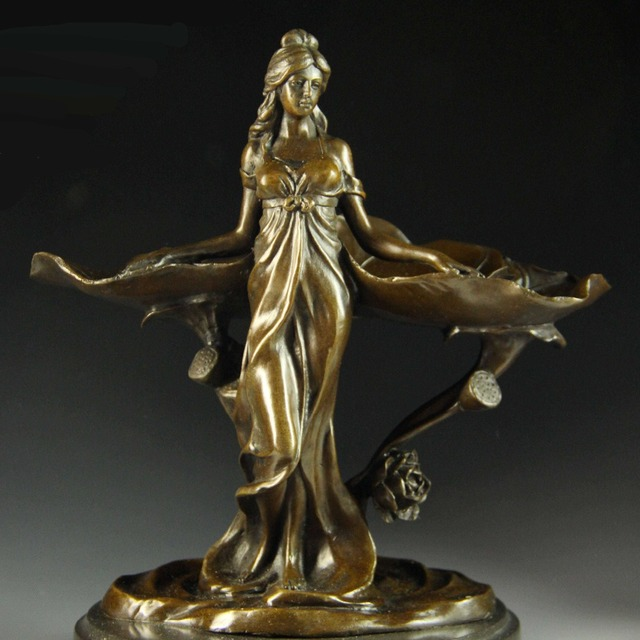 Classical vintage pure Bronze tray decoration home decor Women ...