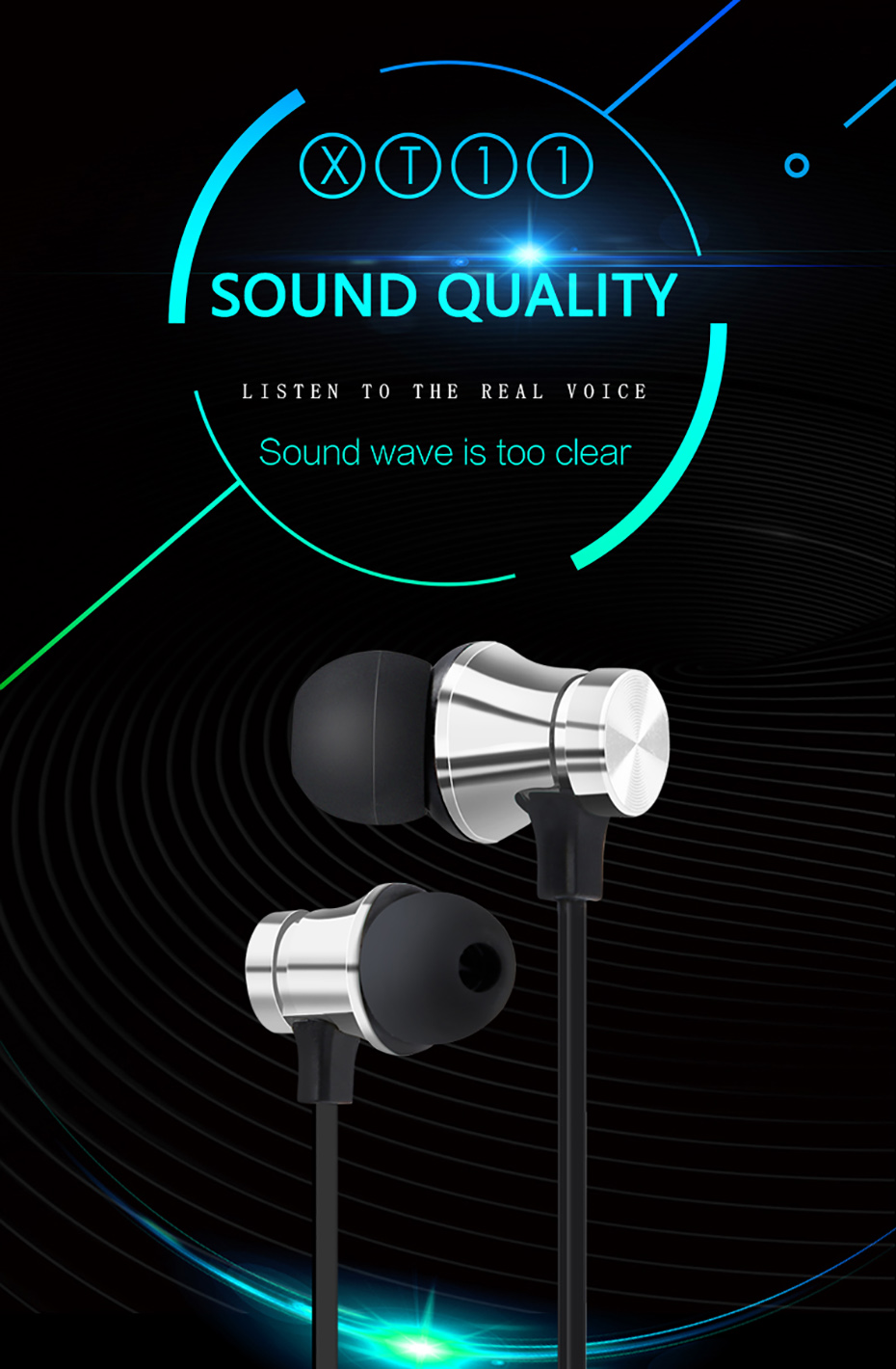 Newest Wireless Headphone Bluetooth Earphone Headphone For Phone Neckband sport earphone Auriculare CSR Bluetooth For Smart Phone 001