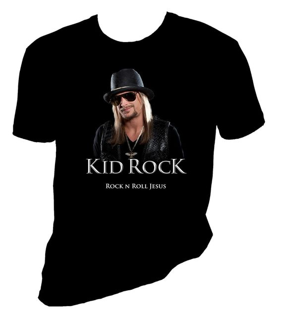 US $13 04 13% OFF|Kid Rock T Shirt Rock N Roll Jesus Cool T Shirts Designs  Best Selling Men Summer 2018 Short Sleeve Plus Size-in T-Shirts from Men's