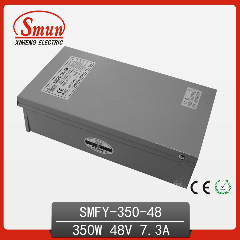 CE RoHS Approved 350W Metal Case Single Output Reliable Rainproof Switching Power Supply SMPS 350W 48V 7.3A (SMFY-350-48) real factory best price s 350 5 single output switching power supply ce rohs approved 5v dc output power supply