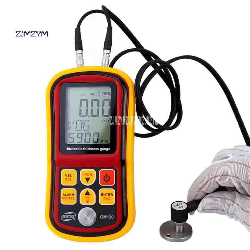 ZJMZYM GM130 Handheld Ultrasonic Thickness Gauge Electronic Metal Digital Thickness Gauge 1.0-300mm (steel) 5MHZ 1000-9999ms