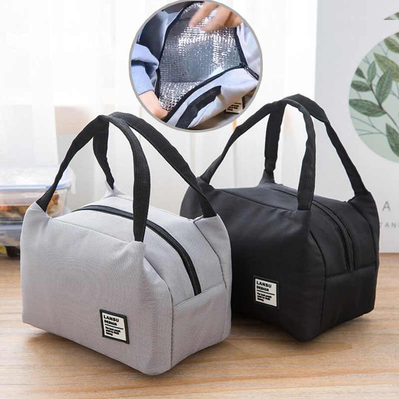 Portable Lunch Bag Thermal Insulated Lunch Box Tote Cooler Bento Pouch Lunch Container School Food Storage Bags bolsa termica