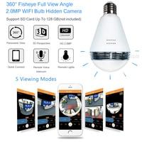 IP WIFI Mini Camera 360 Light Bulb IR Night Vision Live Security Surveillance Cam CCTV Secret 1.3MP Smart for iPhone Android