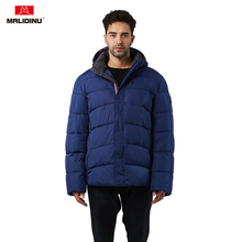 MALIDINU 2019 New Men Winter Jacket Cotton Padded Coat Parka Hooded Thick Winter Coat Man Jacket Winter Warm Plus Size 4XL-7XL цена