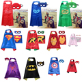 Kids superhero cape single layer Supergirl/Batgirl/Spiderman/Thor/Captain America/Ironman Party Cosplay Costume kids clothes set