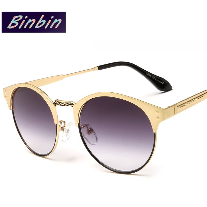 Rimless Glasses Trend : Semi Rimless Sunglasses 2016 New Women Brand Fashion ...