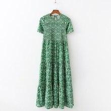 Summer Women Dress Sexy Long Floral Beach Dresses Boho Green Maxi Clothes robe femme