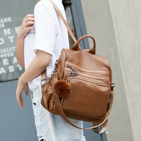 New Real Cow Leather Luxury Fashion Genuine Leather backpack Women Natural Soft Casual Shoulder large bags for women new C497