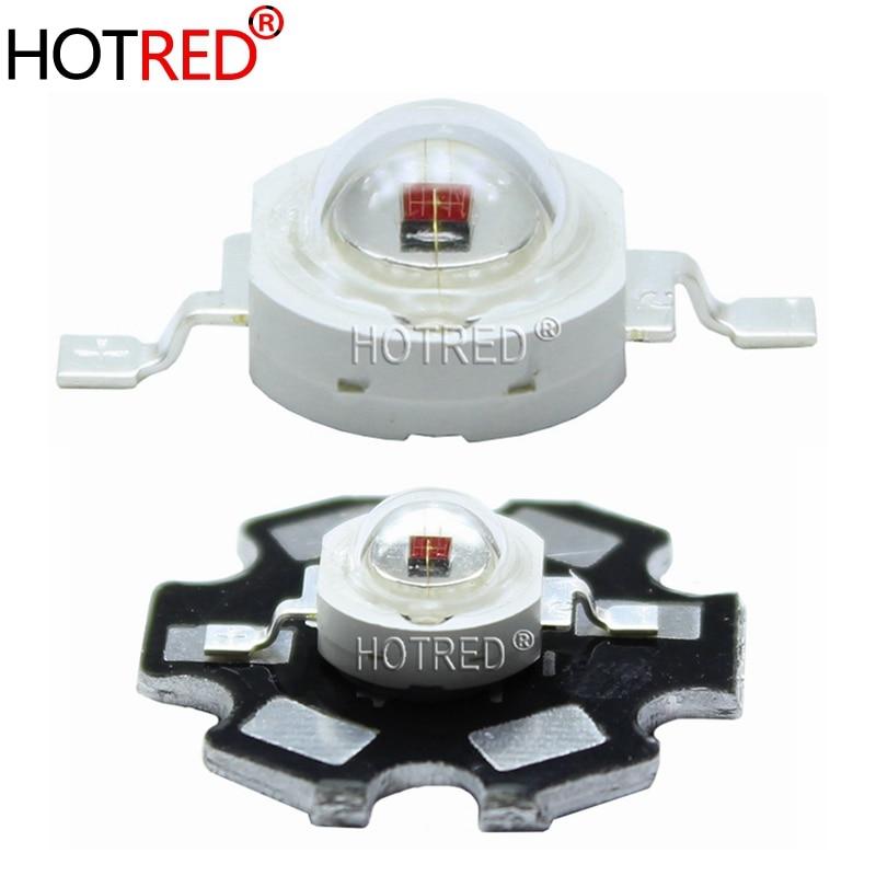 100PCS 3W High Power LED 730nm 740NM Lamp IR Far Red LED Far Infrared LED 3W