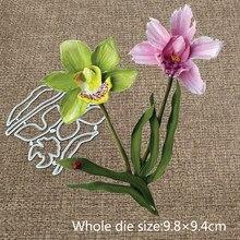 XLDesign Ofício do Metal de Corte Morre cortado nova flor da orquídea Scrapbooking Cartão Do Ofício de Papel Álbum de Fotos DIY Embossing Morrer Cortes
