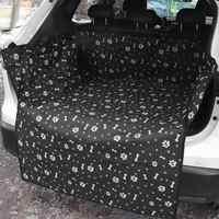 Oxford pano pet carrier cão assento de carro capa de almofada à prova dwaterproof água tronco do carro esteira do cão cobertura cobertor esteira rede protetor