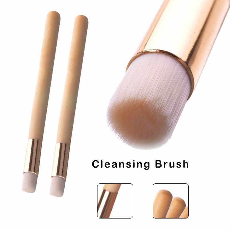 2019 Baru Hitam Hidung Sikat Pembersih Sikat Makeup dengan Casing Kepala Kuas Makeup Kuas Profesional 1030 X0423 2 10