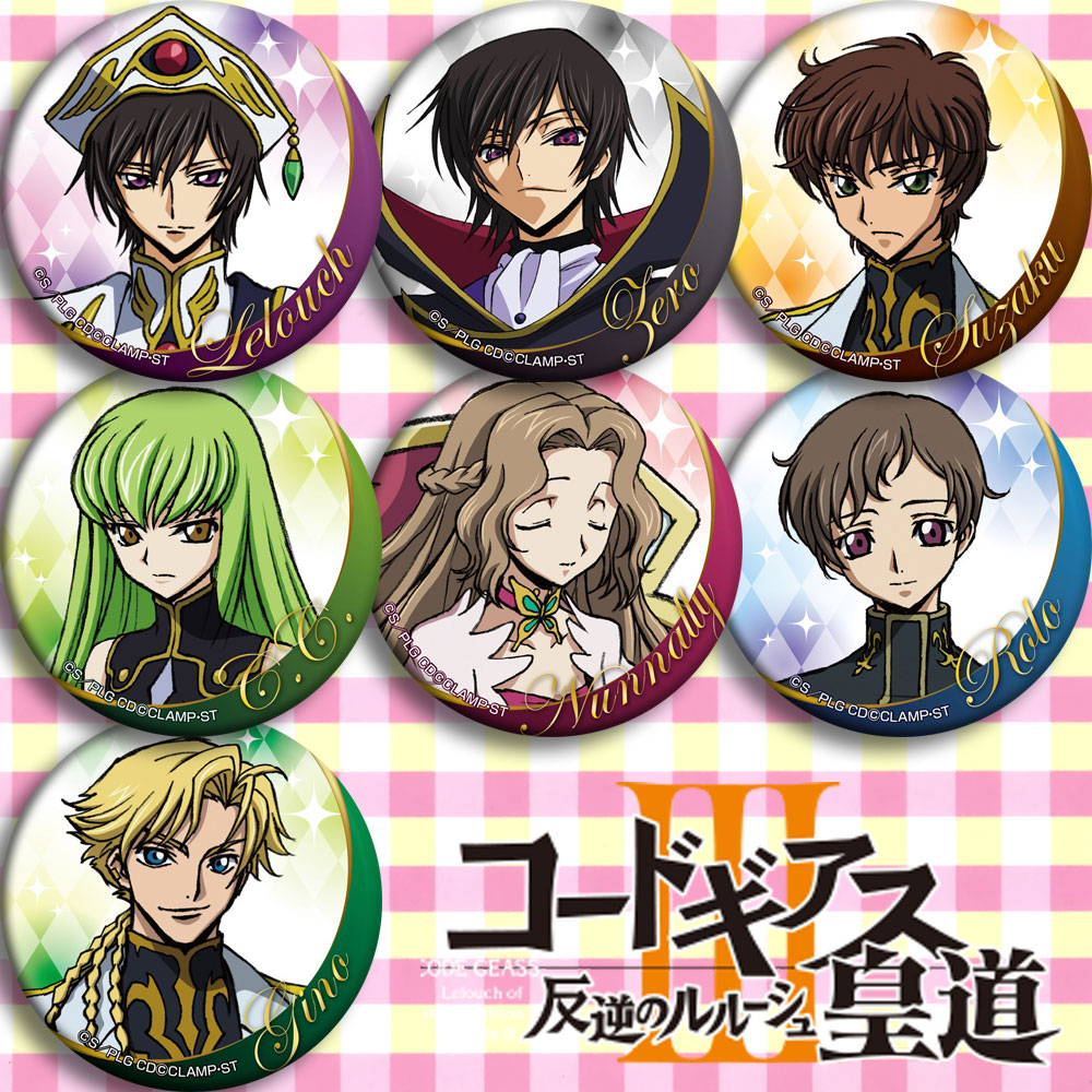 Japan Anime Code Geass Cosplay Badge Cartoon Collection Backpacks Badges Bags Button Brooch Pins Gift