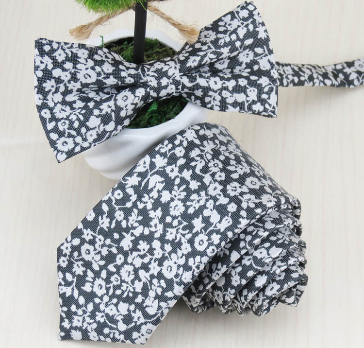 Man han edition floral necktie and bow tie the feeling of the a tall gentleman sweet handsome male must-have