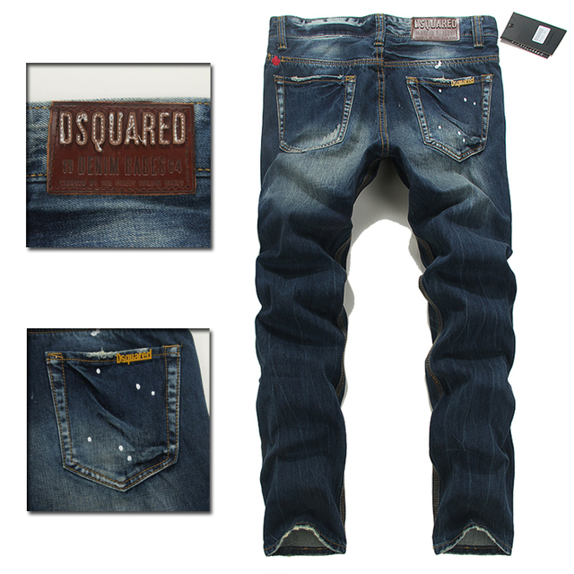 2016 NEW ARRIVE d2 dsquared man JEANS FASHION MEN S LEISURE JEANS DSQ  COTTON SLIM PANTS DENIM JEANS1 b90a3e4ca9c