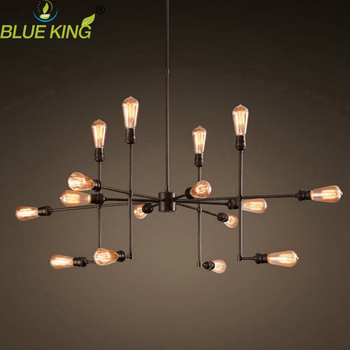 9/12/16 lights personality branch spider chandelier  loft industrial black color painted iron hanging lamp for bar  coffee shop