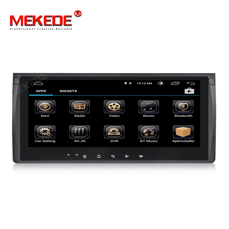 MEKEDE Android 8.1 Car Audio gps navigator for BMW E39 X5 E53 TDA7851 with Car Aduio RDS GPS navigator OBD TPMS free shipping