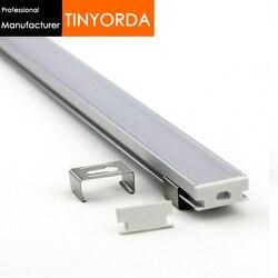 Tinyorda 10 sztuk (długość 1 M) led Profil aluminiowy kanał Led Profil do 11mm światła taśmy LED [profesjonalny producent] TAP1908 w Grzejniki lampowe od Lampy i oświetlenie na