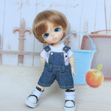 BJD Doll clothes 16cm doll wear jeans and shirt – lati momoko blyth