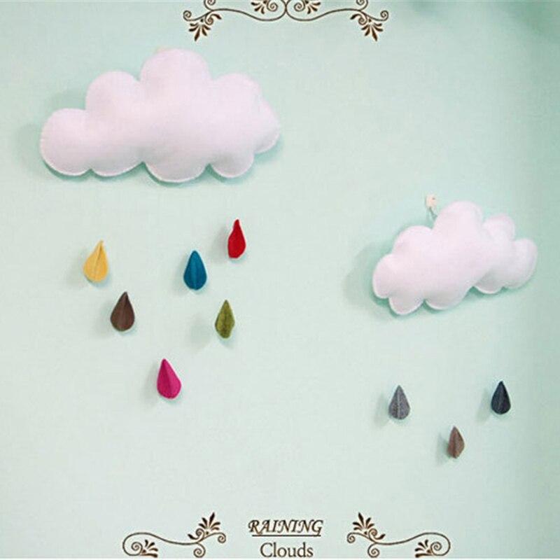 Baby Kussen Kinderkamer Decoratie Handgemaakte Jongens Regenen Wolken - Huisdecoratie