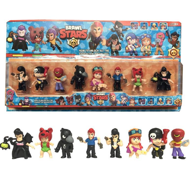 Action-Figure-Toys Shelly Jessie Colt Brawl-Stars Kids Gift Model Acrylic 8pcs/Set
