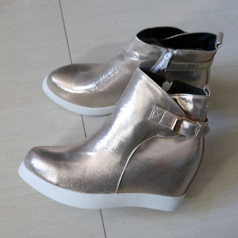61f6fa43c2f Fashion Sequined Cloth Autumn Women Shoes Gold Sliver Ladies Wedges ...