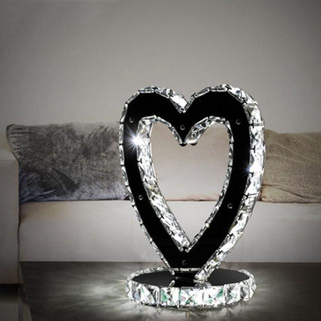 T Love Chinita Lámparas de Mesa de Cristal de Lujo Moderno Moda Creativa Simple Iluminación Para el Hogar Dormitorio Sala de estar Libre de DHL