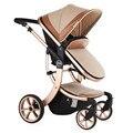 2016 de Alta Qualidade Alta Paisagem carrinho De bebê de Luxo assento e deitar carrinho de bebê de quatro rodas carrinho de bebê carrinho de bebê carrinho de criança